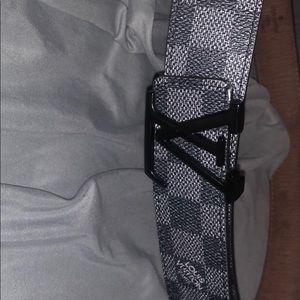 Louis Vuitton Black Checkered Belt